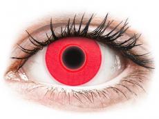 Červené kontaktné šošovky - nedioptrické - ColourVUE Crazy Glow Red - nedioptrické (2šošovky)