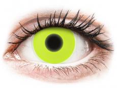 Žlté kontaktné šošovky - nedioptrické - ColourVUE Crazy Glow Yellow - nedioptrické (2šošovky)