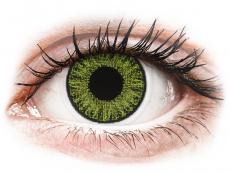 Zelené kontaktné šošovky - dioptrické - TopVue Color - Fresh green - dioptrické denné (10šošoviek)