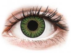 Zelené kontaktné šošovky - dioptrické - TopVue Color - Green - dioptrické denné (10šošoviek)