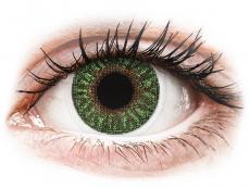 Kontaktné šošovky - TopVue Color - Green - dioptrické (2šošovky)