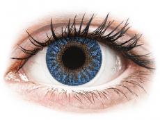 Modré kontaktné šošovky - dioptrické - TopVue Color - True Sapphire - dioptrické (2šošovky)