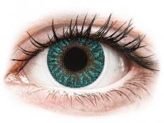Modré kontaktné šošovky - dioptrické - TopVue Color - Turquoise - dioptrické (2 šošovky)