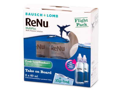 Výhodný balíček - Roztok ReNu Multiplus Flight pack 2 x 60 ml