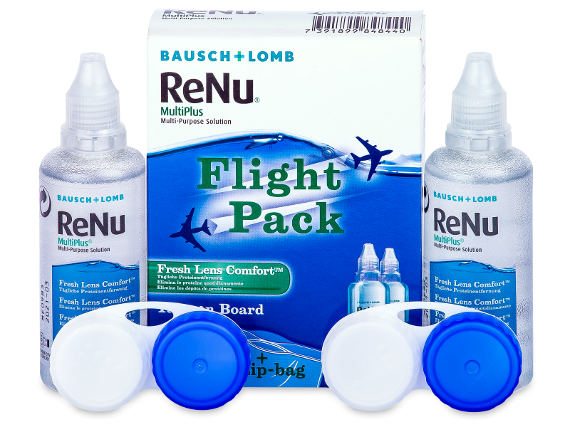 ReNu Multiplus Flight pack 2 x 60 ml  - Čistiaci roztok