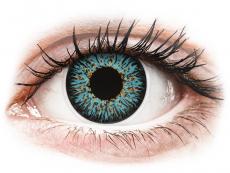 Modré kontaktné šošovky - nedioptrické - ColourVUE Glamour Aqua - nedioptrické (2šošovky)