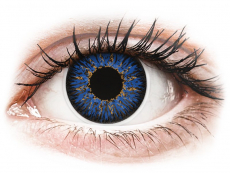 Modré kontaktné šošovky - nedioptrické - ColourVUE Glamour Blue - nedioptrické (2šošovky)