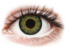 Zelené kontaktné šošovky - dioptrické - ColourVUE Glamour Green - dioptrické (2šošovky)