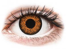 Hnedé kontaktné šošovky - dioptrické - ColourVUE Glamour Honey - dioptrické (2šošovky)