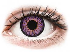 Fialové kontaktné šošovky - nedioptrické - ColourVUE Glamour Violet - nedioptrické (2šošovky)