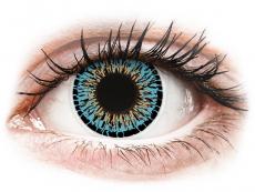 Modré kontaktné šošovky - nedioptrické - ColourVUE Elegance Aqua - nedioptrické (2šošovky)