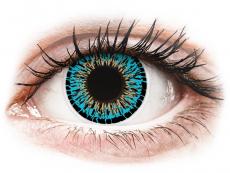 Modré kontaktné šošovky - nedioptrické - ColourVUE Elegance Blue - nedioptrické (2šošovky)