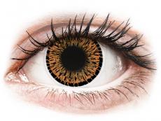 Farebné kontaktné šošovky - ColourVUE Elegance Brown - nedioptrické (2šošovky)