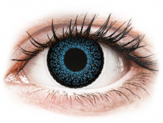 Modré kontaktné šošovky - nedioptrické - ColourVUE Eyelush Blue - nedioptrické (2šošovky)