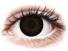 Hnedé kontaktné šošovky - dioptrické - ColourVUE Eyelush Choco - dioptrické (2šošovky)