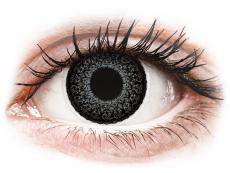 Sivé kontaktné šošovky - dioptrické - ColourVUE Eyelush Grey - dioptrické (2šošovky)