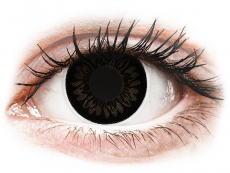Čierne kontaktné šošovky - dioptrické - ColourVUE BigEyes Dolly Black - dioptrické (2šošovky)
