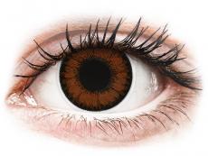 Hnedé kontaktné šošovky - nedioptrické - ColourVUE BigEyes Pretty Hazel - nedioptrické (2šošovky)