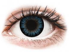 Modré kontaktné šošovky - dioptrické - ColourVUE BigEyes Cool Blue - dioptrické (2šošovky)
