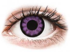 Fialové kontaktné šošovky - nedioptrické - ColourVUE BigEyes Ultra Violet - nedioptrické (2šošovky)