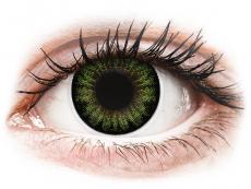 Zelené kontaktné šošovky - nedioptrické - ColourVUE BigEyes Party Green - nedioptrické (2šošovky)