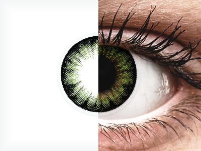 ColourVUE BigEyes Party Green - nedioptrické (2šošovky)