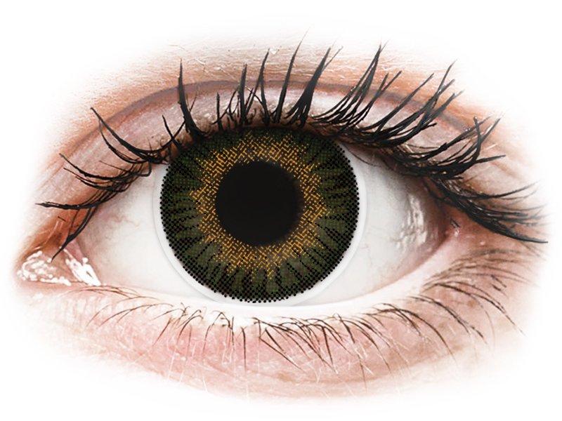 ColourVUE 3 Tones Green - dioptrické (2šošovky) - Coloured contact lenses