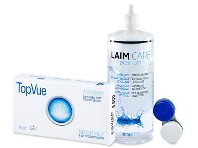 TopVue Monthly (6šošoviek) + roztok Laim-Care 400ml