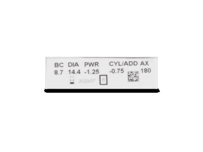 Clariti Toric (6 šošoviek) - Náhľad parametrov šošoviek