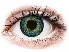 Žlté kontaktné šošovky - nedioptrické - ColourVUE Fusion Yellow Blue - nedioptrické (2šošovky)