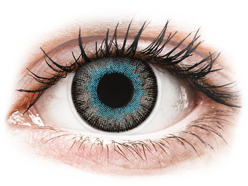 ColourVUE Fusion Blue Gray - dioptrické (2šošovky) - Coloured contact lenses