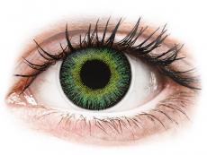 Zelené kontaktné šošovky - dioptrické - ColourVUE Fusion Green Yellow - dioptrické (2šošovky)