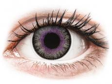 Sivé kontaktné šošovky - nedioptrické - ColourVUE Fusion Violet Gray - nedioptrické (2šošovky)