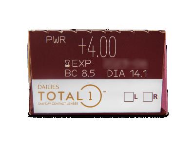 Dailies TOTAL1 (30šošoviek) - Náhľad parametrov šošoviek
