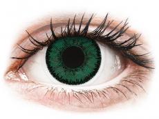 Zelené kontaktné šošovky - dioptrické - SofLens Natural Colors Amazon - dioptrické (2 šošovky)