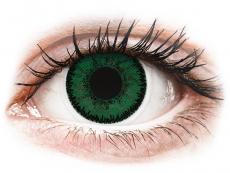 Zelené kontaktné šošovky - dioptrické - SofLens Natural Colors Aquamarine - dioptrické (2 šošovky)