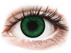 Zelené kontaktné šošovky - nedioptrické - SofLens Natural Colors Emerald - nedioptrické (2 šošovky)