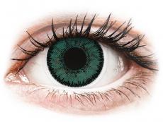 Zelené kontaktné šošovky - nedioptrické - SofLens Natural Colors Jade - nedioptrické (2 šošovky)