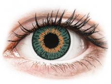 Modré kontaktné šošovky - nedioptrické - Expressions Colors Aqua - nedioptrické (1 šošovka)