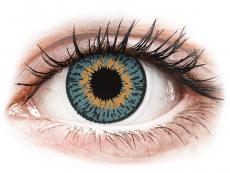 Modré kontaktné šošovky - dioptrické - Expressions Colors Blue - dioptrické (1 šošovka)