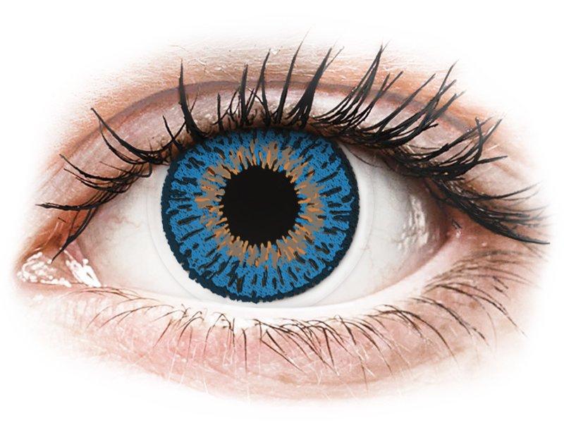 Expressions Colors Dark Blue - dioptrické (1 šošovka) - Coloured contact lenses