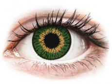 Zelené kontaktné šošovky - nedioptrické - Expressions Colors Green - nedioptrické (1 šošovka)