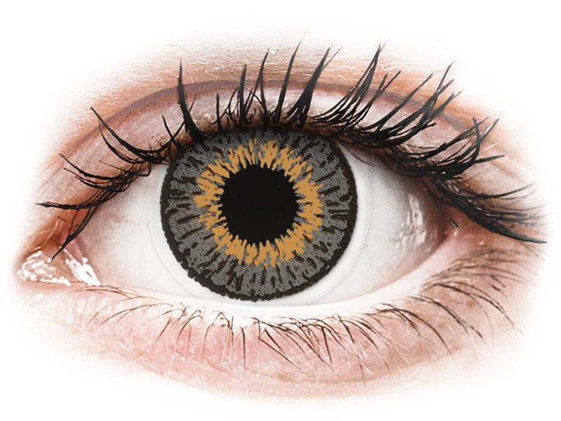 Expressions Colors Grey - dioptrické (1 šošovka) - Coloured contact lenses