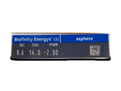 Biofinity Energys (3 šošovky) - Náhľad parametrov šošoviek