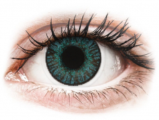 Farebné kontaktné šošovky - FreshLook ColorBlends Brilliant Blue - dioptrické (2 šošovky)