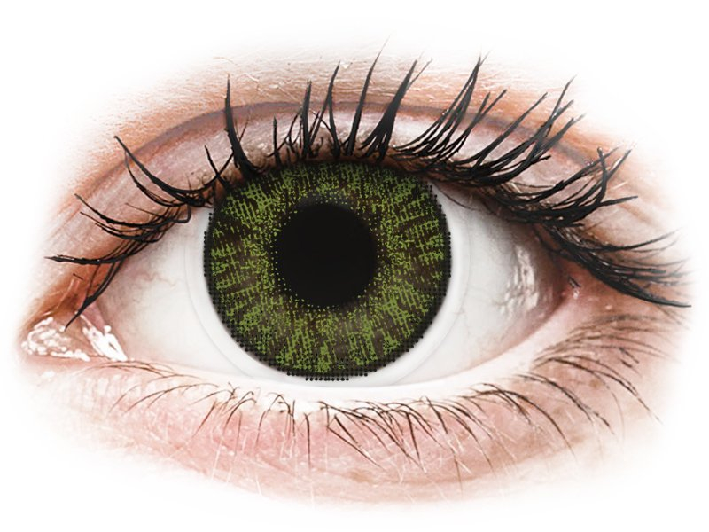 FreshLook ColorBlends Green - dioptrické (2 šošovky) - Coloured contact lenses