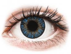 Farebné kontaktné šošovky - FreshLook ColorBlends True Sapphire - dioptrické (2 šošovky)