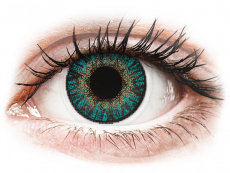 Farebné kontaktné šošovky - FreshLook ColorBlends Turquoise - nedioptrické (2 šošovky)