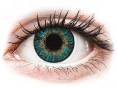 Modré kontaktné šošovky - nedioptrické - FreshLook ColorBlends Turquoise - nedioptrické (2 šošovky)