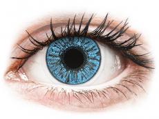 Farebné kontaktné šošovky - FreshLook Colors Sapphire Blue - dioptrické (2 šošovky)